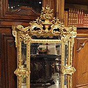 Antique Gilded Louis XV Style Mirror, 19th Century