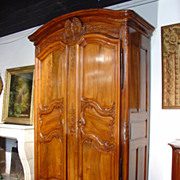 18th Century Walnut Wood Armoire from the Rhone Valley