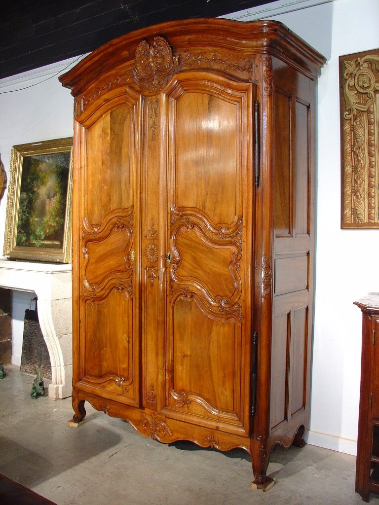 wood armoire th century walnut wood armoire from the rhone  - th century walnut wood armoire from the rhone valley from