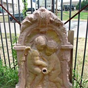 Flat Cast Stone Wall Fountain from France