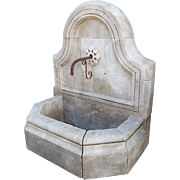 Hand Carved Wall Fountain from Provence, France
