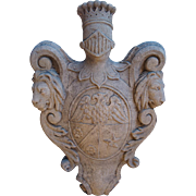 A Carved Stone Coat of Arms from Italy