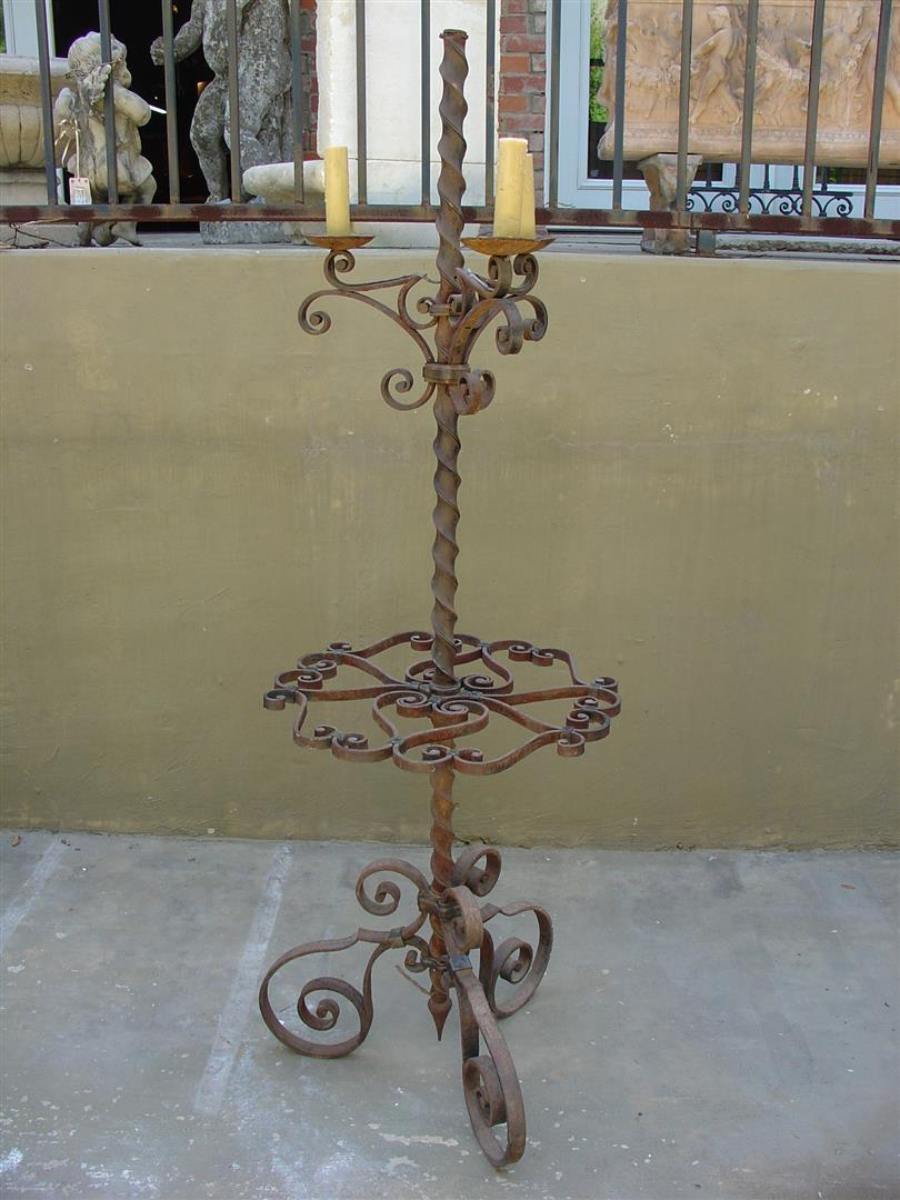 Late 19th Century Iron Torchere from France