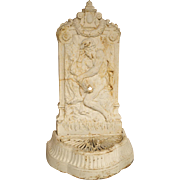 Antique Cast Iron Neptune Wall Fountain from France