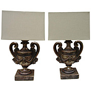 Pair of Italian Candlestick Lamps with Custom Shades