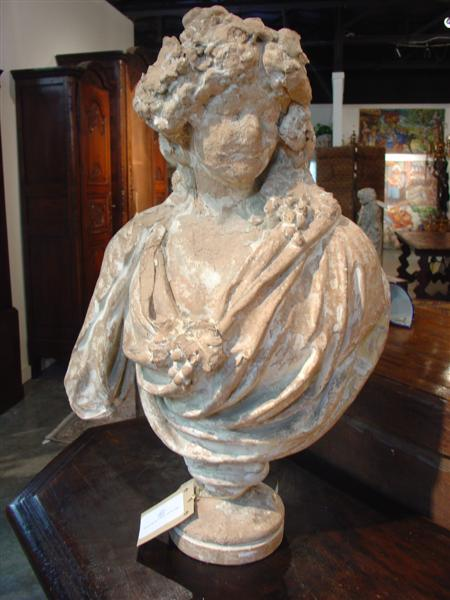 19th Century Terra Cotta Bust from France