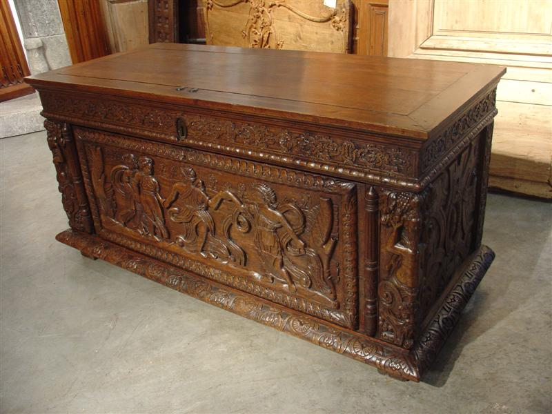 16th Century Normandy Trunk (top is 19th Century)