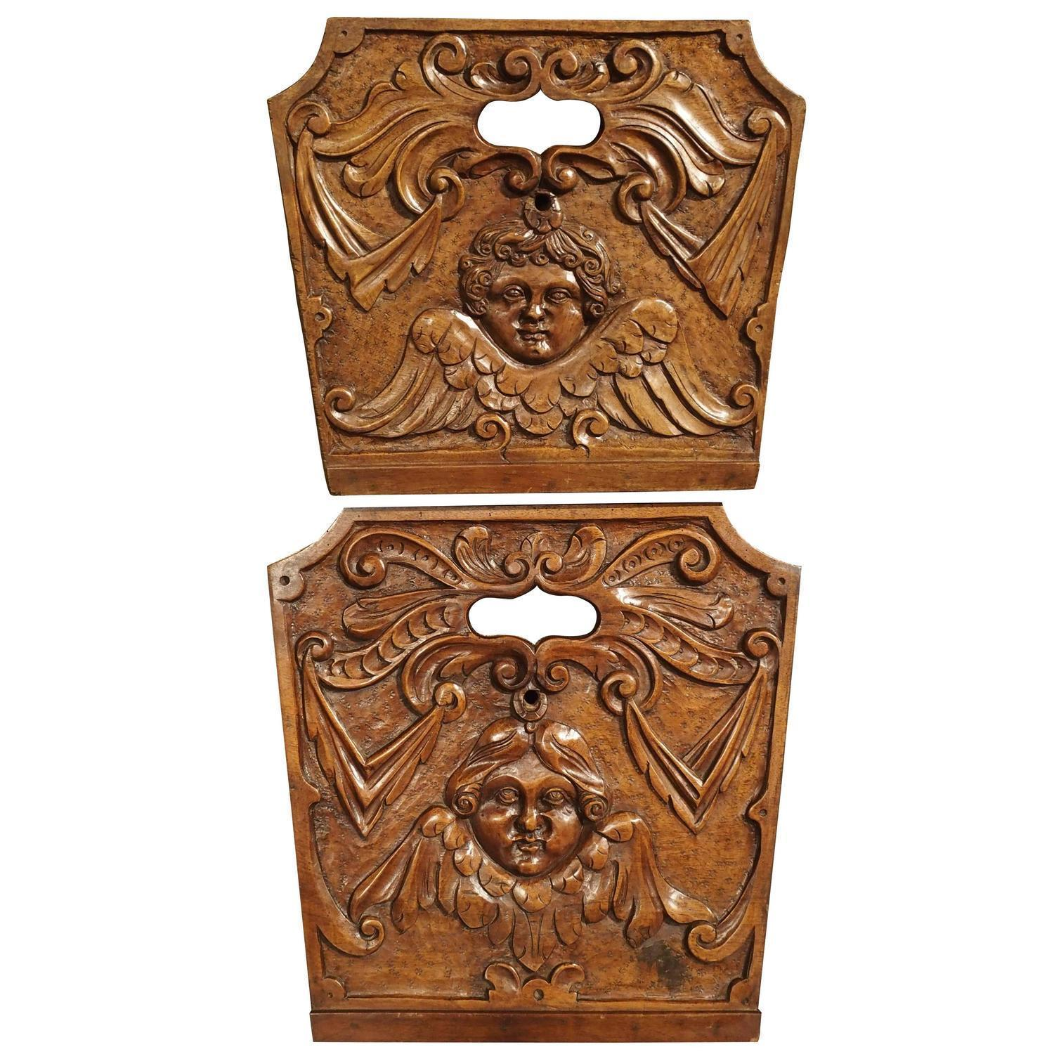 18th Century French Walnut Wood Crib Sides