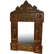 Antique Military Trophy Mirror From France, Early 1900s