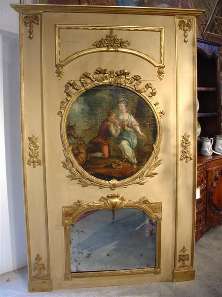 Napoleon Iii Trumeau Mirror Le Louvre French Antiques Ruby Lane