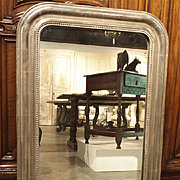Antique Silverleaf Louis Philippe Mirror, 19th Century