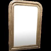 Antique Silverleaf Louis Philippe Mirror, 19th Century