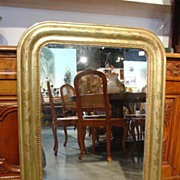 Antique Gold Leaf Louis Phlippe Mirror-Late 1800s
