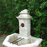 Carved Limestone Wall Fountain from France