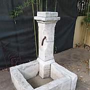 Carved Limestone Corner Fountain from France