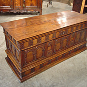 18th Century Walnut Wood Trunk from Italy