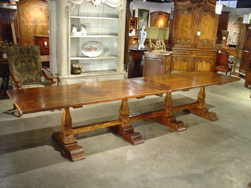 Massive italian elmwood dining table mid 1900 39 s from for Massive dining table