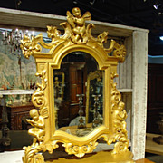 Circa 1840 Giltwood Vanity Table Mirror From France