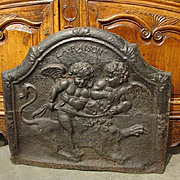 "18th Century French Fireback ""La Raison"""