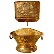 Antique French Repousse Copper Lavabo