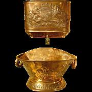 Antique French Repousse Copper Lavabo