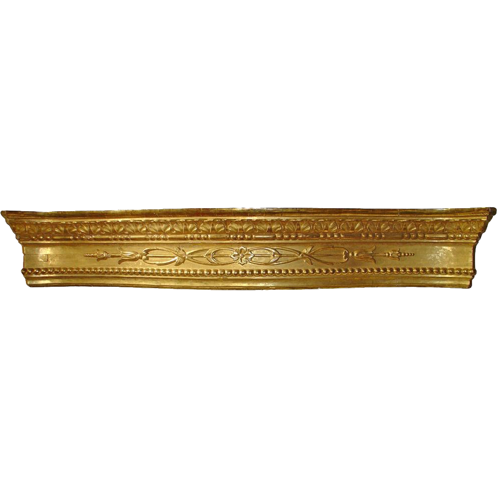 A Large Antique Giltwood Valance from Sicily, Circa 1830
