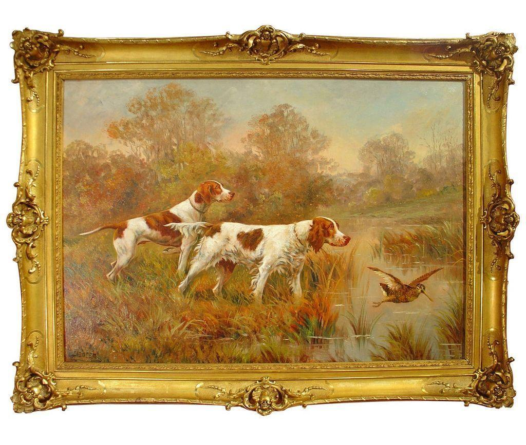 Hunting Dog Painting by Edouard Joseph Dantan 1848-1897
