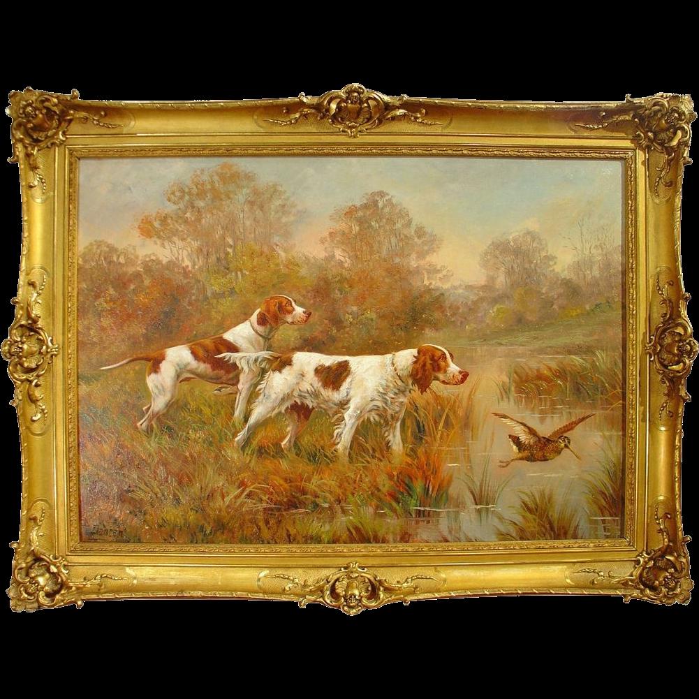 Hunting Dog Painting by Edouard Joseph Dantan 1848-1897