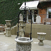 Hand Carved Limestone Well from Italy