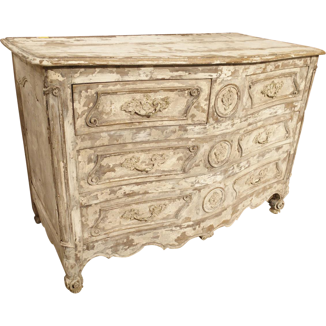 Period Louis XV Parcel Painted Commode