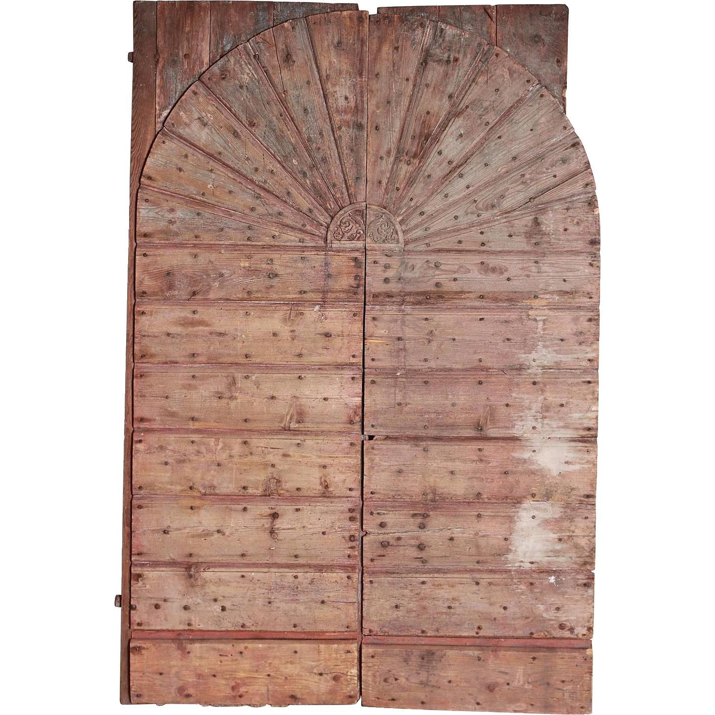 Pair of Large 18th Century Farm Doors from Belluno Italy
