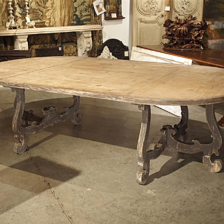 Large Oval Pine Dining Table from Italy