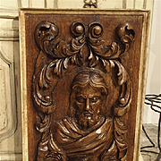 18th Century Carved Oak Panel of Saint Mark and Lion