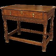 Antique Oak English Console Table, Late 17th Century