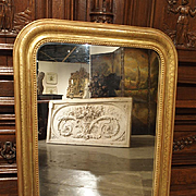 Antique Giltwood Louis Philippe Mirror, France Late 1800s