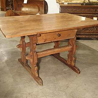Antique Chalet Table from the Mountain Regions of France, Circa 1890