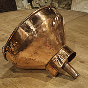 18th Century French Copper Wine Funnel