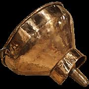 18th Century French Copper Wine Funnel