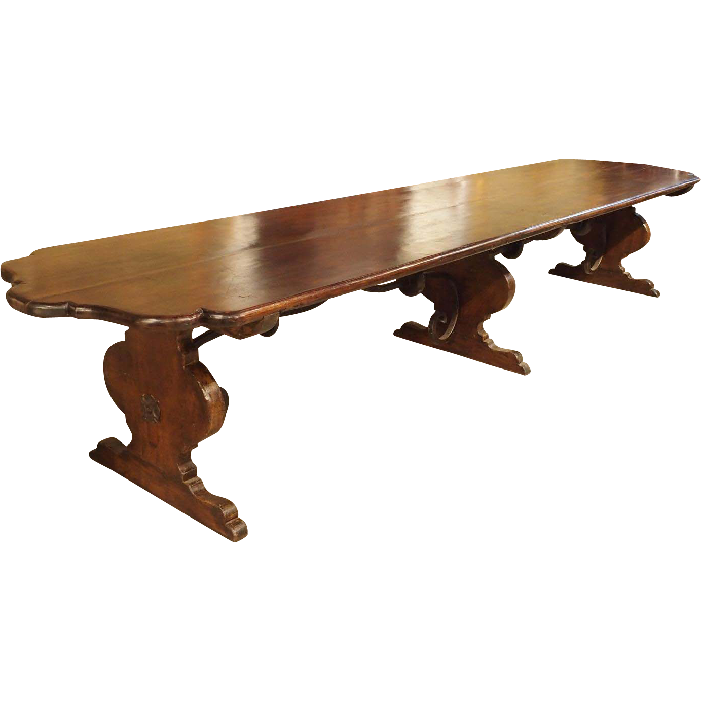 Florentine Renaissance Style Walnut Wood Monastery Table  : 916 541L from www.rubylane.com size 1383 x 1383 png 697kB