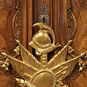 A Giltwood Military Trophy Carving from Italy