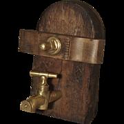 Antique Wine Cask Access Door, France Circa 1890