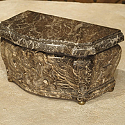Early 18th Century French Marble Tobacco Box