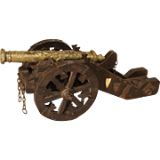 An Iron, Wood, and Bronze Model of the Saint Barbara Cannon