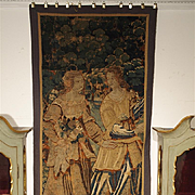 A Vertical 17th Century Flanders Tapestry