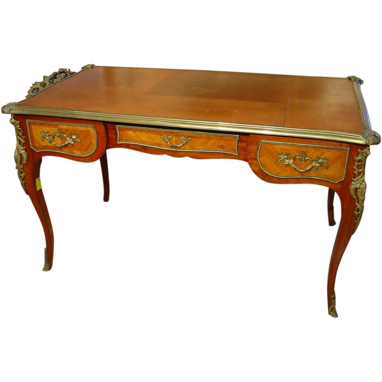 Antique louis xv style bureau plat from for Bureau louis xv