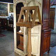 Antique Stripped Oak Lectern from France