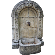 Carved Limestone Fountain from France