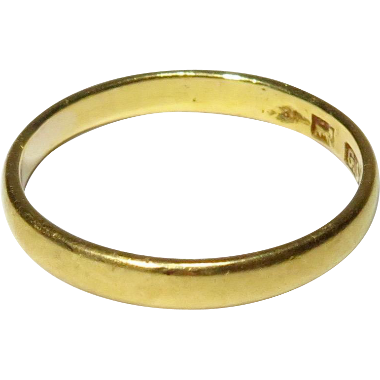 Antique Victorian 22K 22CT Gold Wedding Band Stacking Ring