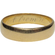 Antique Edwardian 18K Gold Wedding Band Ring