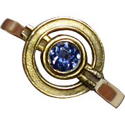Edwardian 14K Gold Sapphire Ring Conversion Piece